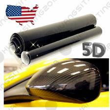 "12*60"" US 5D Car Carbon Fiber Vinyl GLOSS Logo Letter Sticker Decals Body Refit"