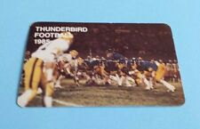 1985 CIAU/CIS/Usports Football UBC Thunderbirds Pocket Schedule
