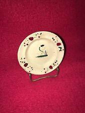 Staffordshire Miniature Cup Plate Prattware Ca. 1820 Kneeling Lady Figure