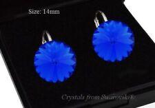 Pendientes de plata 925 * Majestic Azul * 14 Rivoli cristales de Swarovski ®