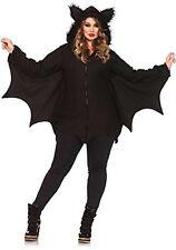 Leg Avenue Women's Plus-Size Cozy Bat Costume, Black, 1X