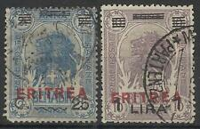 ERITREA 1924 HIGH VALUES USED