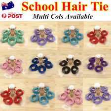 10pc Kids Girls Elastic School Hair Tie/Hair Band For Ponytail Multi Cols