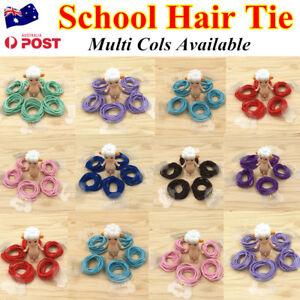 10pc Kids Girls Elastic School Hair Tie/Hair Band For Ponytail Multi Cols