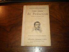 LIVRE SCOLAIRE/Jean BEDEL/L'ANNEE ENFANTINE DE REDACTION COLIN 1906