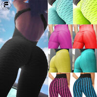 Womens Sexy Bubble Scrunch Yoga Pants High Waist Push Up Workout Fitness Legging