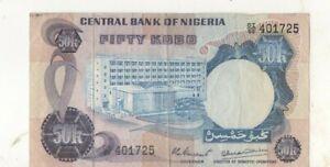 Nigeria fifty kobo 50k banknote Africa