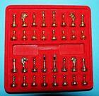 1 Set Scacchi IN METALLO DIAMETRO 10 mm pedine SCACCHIERA Fai da te METAL CHESS