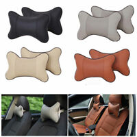 Car Seat Head Neck Rest Leather Cushion Pad Headrest Bone Pillow Mat Travel Hot