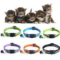 Cat Collar Puppy Pet Kitten Adjustable Safety Cute Buckle Neck Strap With Bell