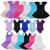 Girls Gymnastics Leotard Ballet Dance Dress Toddler Skating Dancewear Costume