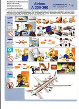 AEROFLOT RUSSIAN AIRLINES - SAFETY CARD - A 330-300 - 08.04.2010