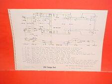1961 DODGE DART SENECA PIONEER PHOENIX CONVERTIBLE SEDAN FRAME DIMENSION CHART
