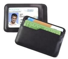 Smooth Trip RFID Blocking Leather Card & ID Case Black ST-S5022