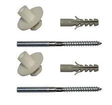 Wash Hand Basin Wall Fixing Kit M8 x 100mm (Pair) | Bolts, Nuts & Wall Plugs