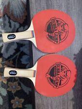 2 RARE & RETIRED Bubba Gump Shrimp Co Logo Stiga Ping Pong Paddles Table Tennis