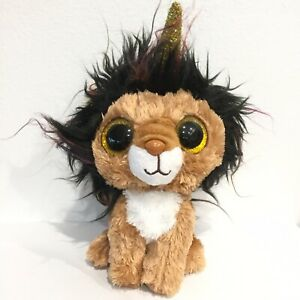 """TY Beanie Boos Regular 6"""" Ramsey The Lion With Horn Plush New Without Tags"""