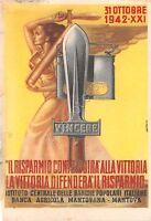 Cartolina - Postcard - Illustrata - Previtali - Risparmio - Mantova - 1942