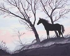 Grafitec Printed Tapestry/Needlepoint Canvas – Stallion Silhouette