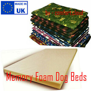 New Medium Memory Foam Filling Flat Dog Bed Warm Cushion OR Removeable Cover