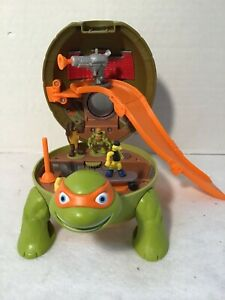 TMNT Michelangelo's Sewer Micro Playset COMP w/ 4 Figures/Weapon+ Playmates 2016