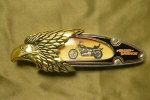 Harley Davidson Franklin Mint Collector Stainless Knife 1998 Dyna Wide Glide