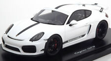PORSCHE CAYMAN GT4 2016 WHITE BLACK SPARK WAX02100025 1/18 300 PCS RESINE