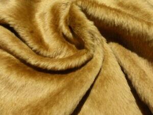 sheepskin shearling leather hide Thin Honey Gold silky hair w/Matching Wool back