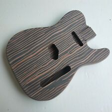No paint unfinished zebra wood electric guitar body for Tele parts Repair