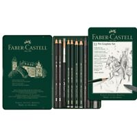#112972 Faber Castell Tin of 11 Pitt Graphite Pencils Set Artists Art Collection