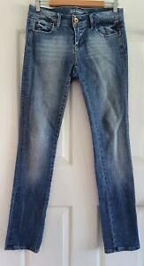 Ladies size 11 blue SLIM STRAIGHT Denim Jeans - Jeanswest