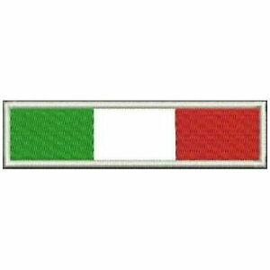 Toppa patch bandiera italia 10x2 softair airsoft moto biker tuta soccorritore