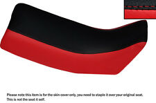 RED & BLACK CUSTOM FITS YAMAHA DT 125 LC 81-83 DUAL LEATHER SEAT COVER