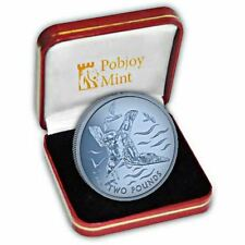 More details for british antarctic territory 2018 blue petrel blue titanium coin