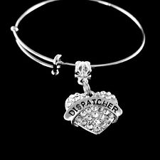 Dispatcher Bracelet  Dispatcher Crystal Heart Charm Bracelet  Dispatch