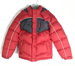 Vertical 9 Puffer Ski Jacket Youth Size 7 Fleece Lined Hood Full Zip Pockets