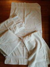 Lot of 4! Restoration Hardware Bath Towels Plush White/Cream 51x27 100% Cotton