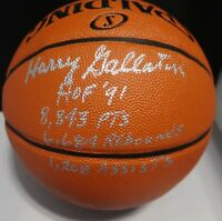 Harry Gallatin HOF 91 Stat Signed Autographed Full Size Replica Basketball RARE!