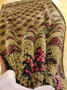 """Beautiful Vintage 1960-1970's Natural Dye  Wool Pile Tribal Rug 3'8""""x7'5"""""""