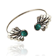 Fashion Bohemian Turquoise Peahen Cuff Open Bracelets Bangles Jewelry Adjustable