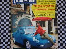 revue L'AUTOMOBILE 1958 / 24 H DU MANS / MATCHLESS 600 / RENAULT FREGATE DOMAINE