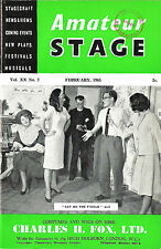 Amateur Stage magazine Feb 1965 collectable vintage retro plays acting theatre