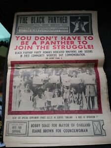 RARE 1972 THE BLACK PANTHER Party Newspaper july 29 vol. VIII no. 19