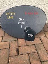 LATEST ZONE 1 SKY DISH 60CM FREESAT SATELLITE OCTO 8 WAY LNB !!! PVR HD SKY+ 4K