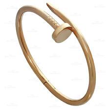 CARTIER Juste Un Clou 18k Rose Gold Bangle Bracelet Size 17 Pouch Papers