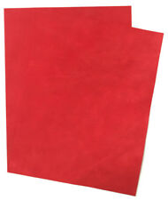 Suede Leather Craft Pack 2 of 23 cm x 18 cm 1.6-1.8 mm Thick Scarlet Soft Feel