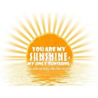 You Are My Sunshine Song Quote Motivation Unframed Wall Art Poster