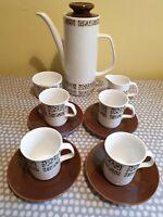 Vintage J & G Meakin Retro Bagatelle 11 Piece Coffee Set