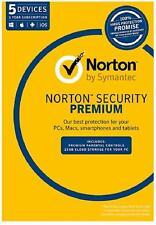 Norton Security Premium 2018 5 Device Windows Mac Android iOS SEND KEY FREE POST