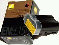 Nikon EN-EL15 Camera batteries for D7000 D800 D800E D600 MB-D11 D12 1900mAh